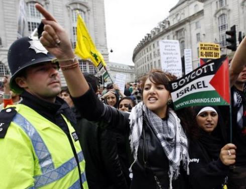 A BDS Israel protest in London. Photo: Wiki Commons.