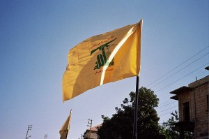 The flag of Hezbollah flies in Syria. Photo: Hezbollah Flag/Wikimedia Commons.
