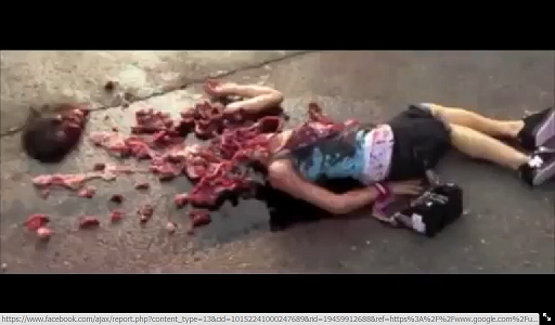 A screenshot from 'The Final Destination 4,' with the actress dead on the ground, her head to the left. Photo: Screenshot.