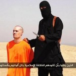 James Foley shown in a released video moments before his beheading. Photo: Twitter.