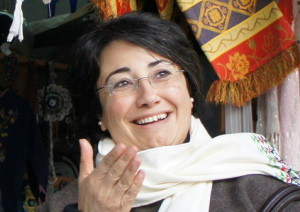 Joint List MK Haneen Zoabi, pictured, is one of the Arab MK's who met with the families of late Palestinian terrorists. Photo: Wikimedia Commons.