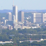 The skyline of Essen, Germany, where an anti-Israel protest in July 2014 led to 49 criminal complaints. Photo: Wikimedia Commons.