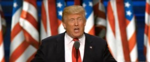 Donald Trump giving his nomination acceptance speech at the RNC on July 21. Credit: Wikimedia Commons.
