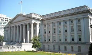 U.S. Treasury Department building in Washington D.C.  Photo: wiki commons.