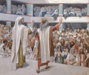 Moses and Aaron Speak to the People, c. 1896-1902, by James Jacques Joseph Tissot.