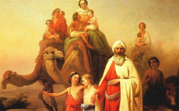 Abraham on his family's journey from Ur to Canaan. Photo: József Molnár/Wikimedia Commons.