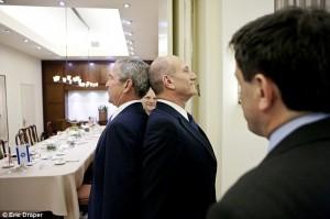 In 2008. U.S. President George W. Bush and Israeli Prime Minister Ehud Olmert went back-to-back in the White House, and Israel emerged the victor! Photo: Screenshot / Eric Draper.