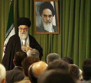 A photo posted on Ayatollah Khameni's Twitter account. Photo: Twitter.