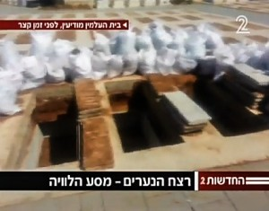 Side-by-side graves of the slain teens (Ch. 2 News - screenshot)