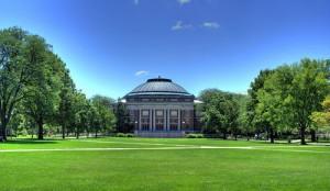 The campus of the University of Illinois. Photo: Herbert J. Brant via Wikimedia Commons.