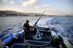 Israel Navy patrolling off Haifa. Photo IDF