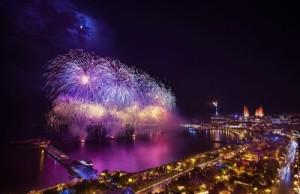 The countdown to the beginning of the European Games in Baku, Azerbaijan. Photo: Urek Meniashvili via Wikimedia Commons.