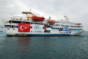 The Turkish Mavi Marmara vessel, which sought to break the blockade of Gaza in 2010.  Turkey demands that Israel issue an apology and compensate the families of those who were killed in clashes in the 2010 Mavi Marmara flotilla incident. Photo: Free Gaza movement via Wikimedia Commons.