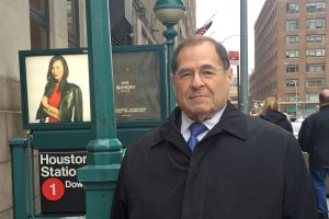 Congressman Jerry Nadler in New York City. His support for the deal will earn him the title of 'traitor,' says Torossian.