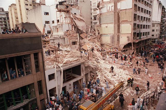 The AMIA bombing attack in Argentina. Photo: Wikipedia.