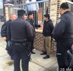 A man was arrested outside a Brooklyn synagogue on Thursday morning after he was caught yelling antisemitic remarks. Photo: Instagram.