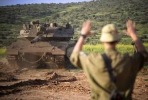 A tank takes part in an IDF drill. Photo: IDF Spokesperson's Unit.