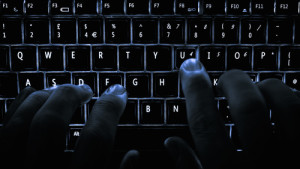 Typing on a computer keyboard. Israel was hit with a massive cyberattack that targeted the country's electrical grid. Photo: Wikimedia Commons.