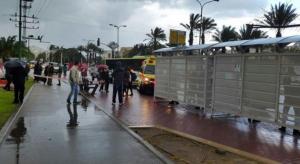 The scene of Sunday's Ashkelon stabbing. Photo: Twitter Screenshot