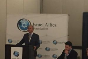 Former Israeli ambassador to the US, MK Michael Oren at the Israel Allies Foundation's Second Annual Latin America Summit on Israel in Miami. Photo: Twitter/Screenshot.
