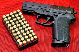 A semi-automatic pistol. Photo: Augustas Didžgalvis via Wikimedia Commons.