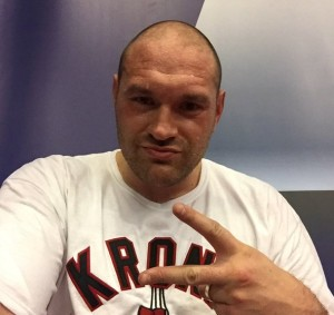 """British boxer Tyson Fury claimed Jews """"own all the banks, all the papers all the TV stations."""" Photo: Twitter."""