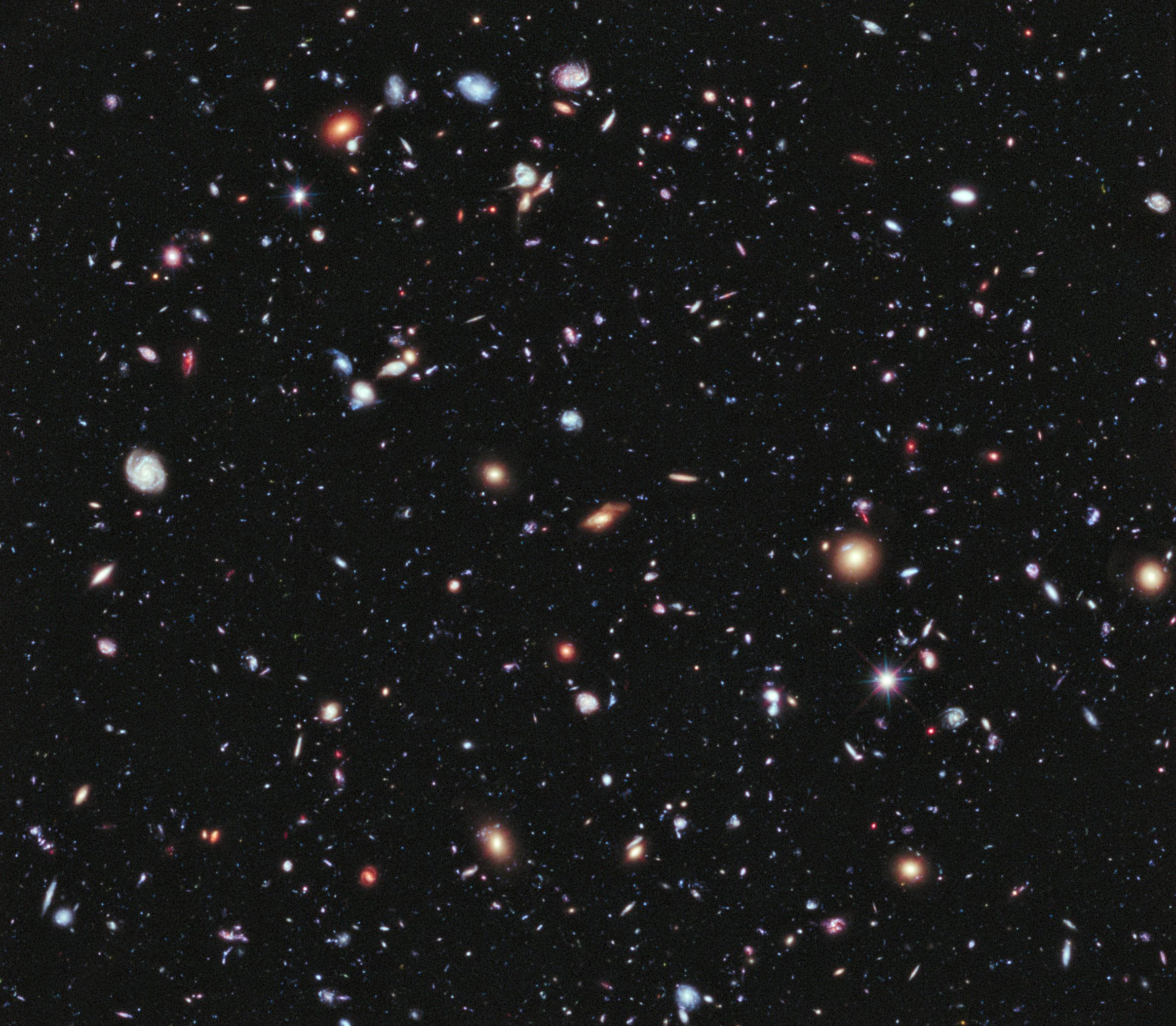Far-away galaxies photographed in 2012. Photo: Wikipedia.