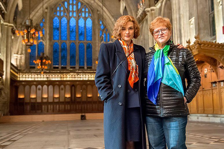 Actress Rachel Weisz, left, and Deborah Lipstadt, right. Photo: Courtesy of Bleecker Street Theater.