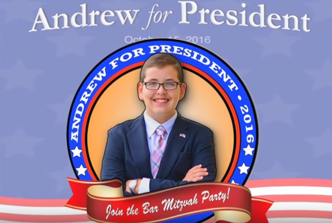Andrew Weisz as shown in a video posted on YouTube by his father. Photo: Screenshot/YouTube.