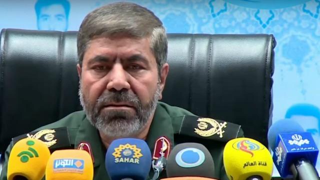 Islamic Revolutionary Guards Corps spokesman General Ramezan Sharif. Photo: YouTube screenshot.